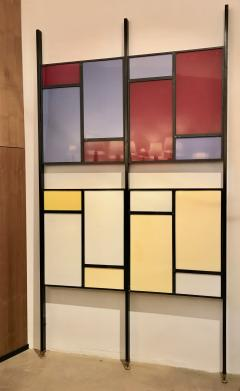 Colourful Midcentury Modern Italian Partition Wall Room Divider - 801021