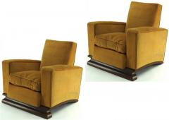Comfy pair of French vintage Art Deco club chairs - 1527868