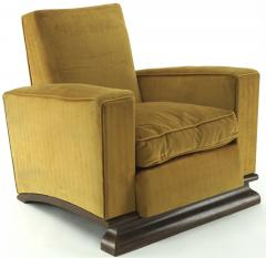 Comfy pair of French vintage Art Deco club chairs - 1527869