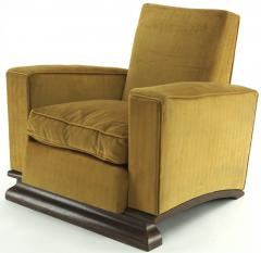 Comfy pair of French vintage Art Deco club chairs - 1527870