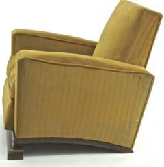 Comfy pair of French vintage Art Deco club chairs - 1527871