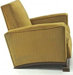 Comfy pair of French vintage Art Deco club chairs - 1527872