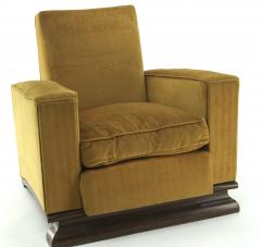 Comfy pair of French vintage Art Deco club chairs - 1527874
