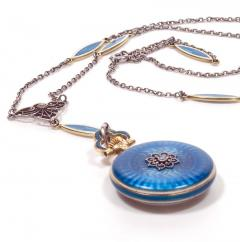 Concord Watch Co Diamond Enamel Pendant Watch 1915 - 1173004