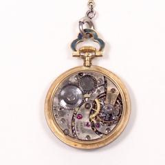 Concord Watch Co Diamond Enamel Pendant Watch 1915 - 1173006