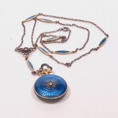 Concord Watch Co Diamond Enamel Pendant Watch 1915 - 1173007