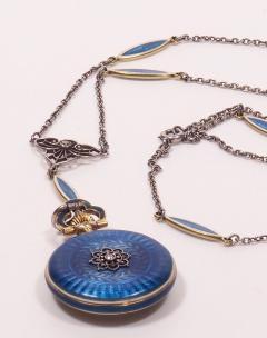 Concord Watch Co Diamond Enamel Pendant Watch 1915 - 1173008