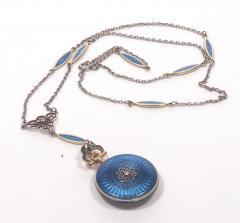 Concord Watch Co Diamond Enamel Pendant Watch 1915 - 1173009