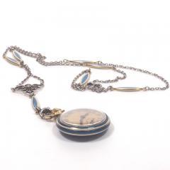 Concord Watch Co Diamond Enamel Pendant Watch 1915 - 1173010