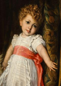 Constantin Meunier Constantin Emile Meunier Hide Seek French Oil on Canvas - 1161415