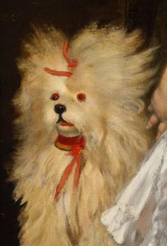 Constantin Meunier Constantin Emile Meunier Hide Seek French Oil on Canvas - 1161418