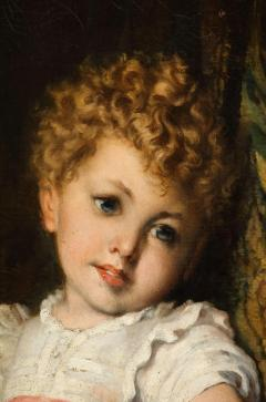 Constantin Meunier Constantin Emile Meunier Hide Seek French Oil on Canvas - 1161419