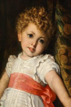 Constantin Meunier Constantin Emile Meunier Hide Seek French Oil on Canvas - 1161424