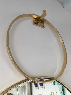 Contemporary 7 Brass Circle Mirror Italy - 977424