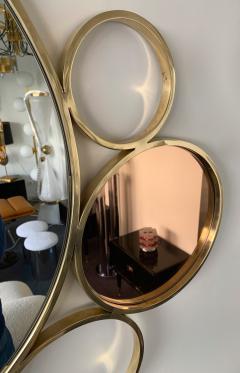 Contemporary 7 Brass Circle Mirror Italy - 977425