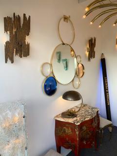 Contemporary 7 Brass Circle Mirror Italy - 977430