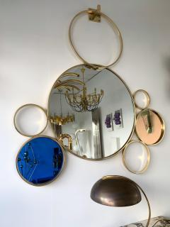 Contemporary 7 Brass Circle Mirror Italy - 977431
