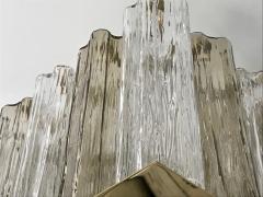 Contemporary Art Deco Style Italian Crystal Smoked Murano Glass Flush Chandelier - 1112003