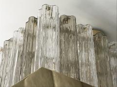 Contemporary Art Deco Style Italian Crystal Smoked Murano Glass Flush Chandelier - 1112005