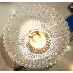 Contemporary Bespoke Italian Crystal Pink Gold Cream Murano Glass Pendant Light - 1498245