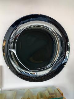 Contemporary Black Curve Mirror Italy - 1464335