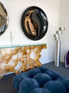 Contemporary Black Curve Mirror Italy - 1464336