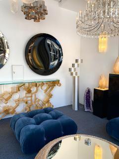 Contemporary Black Curve Mirror Italy - 1464337