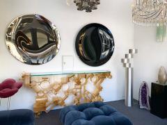 Contemporary Black Curve Mirror Italy - 1464338