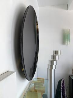 Contemporary Black Curve Mirror Italy - 1464339