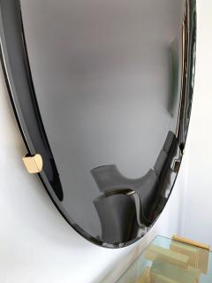Contemporary Black Curve Mirror Italy - 1464341