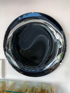 Contemporary Black Curve Mirror Italy - 1464342