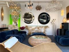 Contemporary Black Curve Mirror Italy - 1464343