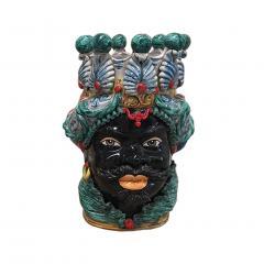 Contemporary Black Terracotta Pair of Sicilian Vases - 1087731