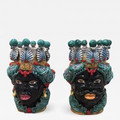 Contemporary Black Terracotta Pair of Sicilian Vases - 1090967