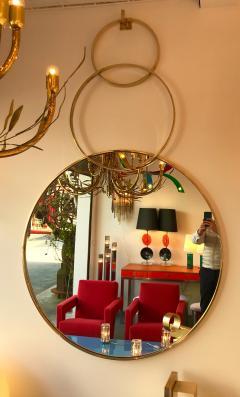 Contemporary Brass Mirror 3 Circle Italy - 543552