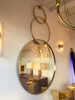 Contemporary Brass Mirror 3 Circle Italy - 543553