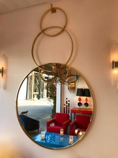Contemporary Brass Mirror 3 Circle Italy - 543554