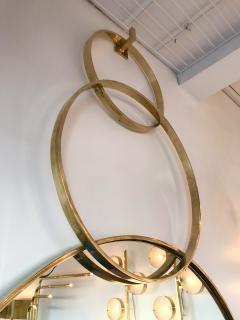 Contemporary Brass Mirror 3 Circle Italy - 543555
