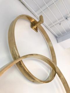 Contemporary Brass Mirror 3 Circle Italy - 543556