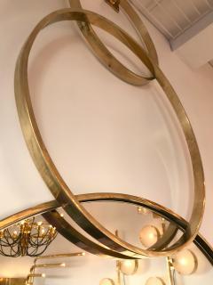 Contemporary Brass Mirror 3 Circle Italy - 543557
