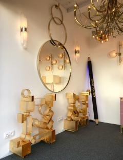 Contemporary Brass Mirror 3 Circle Italy - 543558