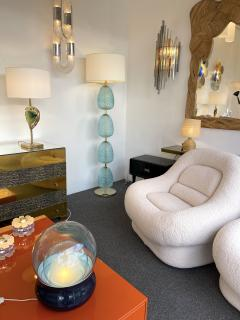 Contemporary Brass Pineapple Murano Glass Floor Lamp Italy - 2073670