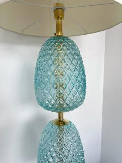 Contemporary Brass Pineapple Murano Glass Floor Lamp Italy - 2073671
