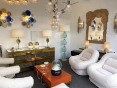 Contemporary Brass Pineapple Murano Glass Floor Lamp Italy - 2073672