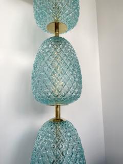 Contemporary Brass Pineapple Murano Glass Floor Lamp Italy - 2073674