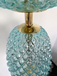 Contemporary Brass Pineapple Murano Glass Floor Lamp Italy - 2073676