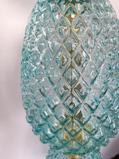 Contemporary Brass Pineapple Murano Glass Floor Lamp Italy - 2073677