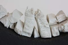 Contemporary Ceramic Sculpture Anneau Noir Caillou - 1598878
