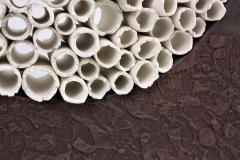 Contemporary Ceramic Sculpture Grand Anneau Noir - 1598853