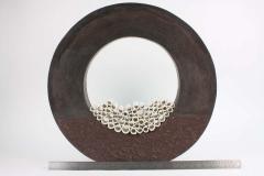 Contemporary Ceramic Sculpture Grand Anneau Noir - 1598857